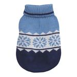 View Image 3 of Cross Country Dog Sweater - Blue