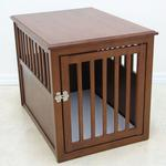 Crown Pet Wood Dog Crate - Mahogany