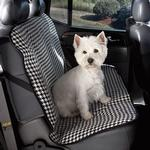 View Image 1 of Cruising Companion Houndstooth Car Seat Cover - Black