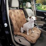 Cruising Companion Pawprint Single Car Seat Cover - Camel