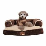 View Image 1 of Davenport Dog Bed by Puppia - Brown