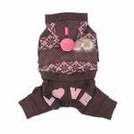 View Image 3 of Daydream Dog Jumpsuit by Pinkaholic - Brown