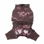 View Image 2 of Daydream Dog Jumpsuit by Pinkaholic - Brown
