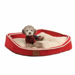 View Image 1 of Dazzle Dog Bed by Puppia - Wine