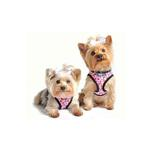 View Image 1 of Designer Choke-Free Step-In Dog Harness - Pink Floral Bouquet