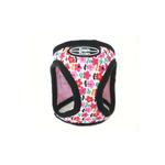View Image 2 of Designer Choke-Free Step-In Dog Harness - Pink Floral Bouquet