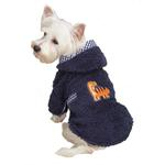 View Image 1 of Dino Dog Robe - Navy