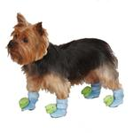 View Image 1 of Dino Dog Slippers - Blue