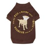 View Image 1 of Dog is Good Cone Dog T-Shirt - Brown