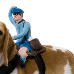 View Image 2 of Dog Riders Harness Halloween Costume - Mailman