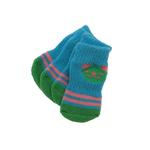 View Image 2 of Doggy Socks - Aqua & Lime Panda