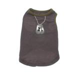 View Image 1 of Dogtag Dog Tank Top - Charcoal