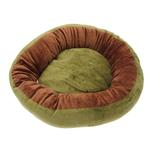 View Image 3 of Donut 3-Piece Dog Bed Set - Green/Brown