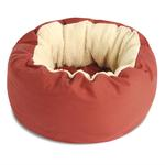 View Image 3 of Donut Sherpa Cat Bed by Dog Gone Smart - Red