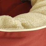 View Image 2 of Donut Sherpa Cat Bed by Dog Gone Smart - Red