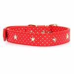 View Image 3 of Canine Charmers Dog Collar - Red Stars