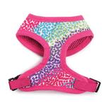 View Image 3 of East Side Collection Confetti Print Dog Harness - Raspberry