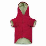 View Image 2 of East Side Collection Corduroy Toggle Dog Coat - Raspberry