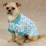 View Image 2 of Hibiscus Dog Polo - Blue