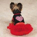 View Image 1 of Full of Heart Tutu Dog Dress