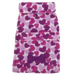 View Image 1 of Heart Fleece Dog Jacket - Purple
