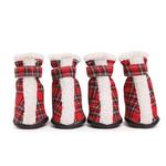 View Image 2 of East Side Collection Holiday Tartan Dog Boots