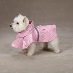 View Image 2 of Polka Dot Rain Jacket - Pink