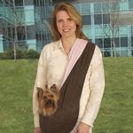 View Image 1 of East Side Collection Reversible Sling Pet Carrier - Brown / Pink