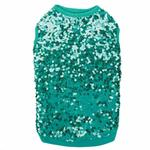 East Side Collection Sassy Sequin Dog Tank - Green