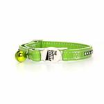 View Image 2 of Sparkle Gemstone Cat Collar - Parrot Green