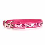 View Image 1 of Vibrant Leopard Dog Collar - Raspberry