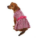 View Image 1 of Vibrant Leopard Dog Dress - Raspberry