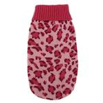 View Image 1 of East Side Collection Vibrant Leopard Dog Sweater - Raspberry