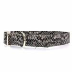 View Image 1 of East Side Collection West End Dog Collar - Silver Python