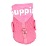 View Image 4 of Elite Hooded Mesh Dog Harness by Puppia - Pink