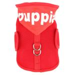 View Image 4 of Elite Hooded Mesh Dog Harness by Puppia - Red