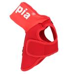 View Image 2 of Elite Hooded Mesh Dog Harness by Puppia - Red