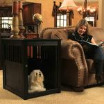 View Image 4 of End Table Dog Crate - Black
