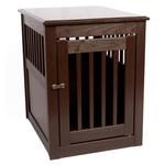 View Image 3 of End Table Dog Crate - Mahogany