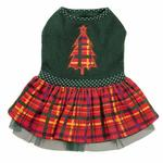ESC Holly Days Plaid Dog Dress