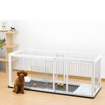 View Image 1 of Expandable Pet Pen with Floor Tray - Origami White/Black