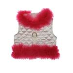 Fashion Diva Dog Harness - White & Hot Pink