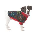 View Image 1 of Fido Fleece Ink Heart Dog Coat