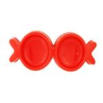 View Image 1 of Fish Kiss Double Dog Bowl - Red