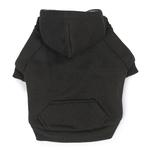 Fleece Lined Dog Hoodie by Zack & Zoey - Black