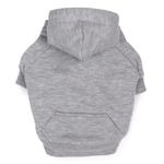 Fleece Lined Dog Hoodie by Zack & Zoey - Gray