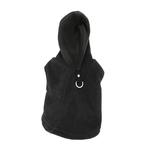 View Image 1 of Fleece Vest Hoodie Dog Harness by Gooby - Black