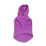 View Image 2 of Fleece Vest Hoodie Dog Harness by Gooby - Purple