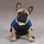 View Image 4 of Fleece Vests with Ripstop Chests - Blue
