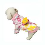 View Image 2 of Floral Fleece Dog Hoodie with Flowers by Klippo